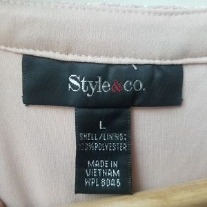 Style & Co Dresses - Style & Co Lace like material size Large